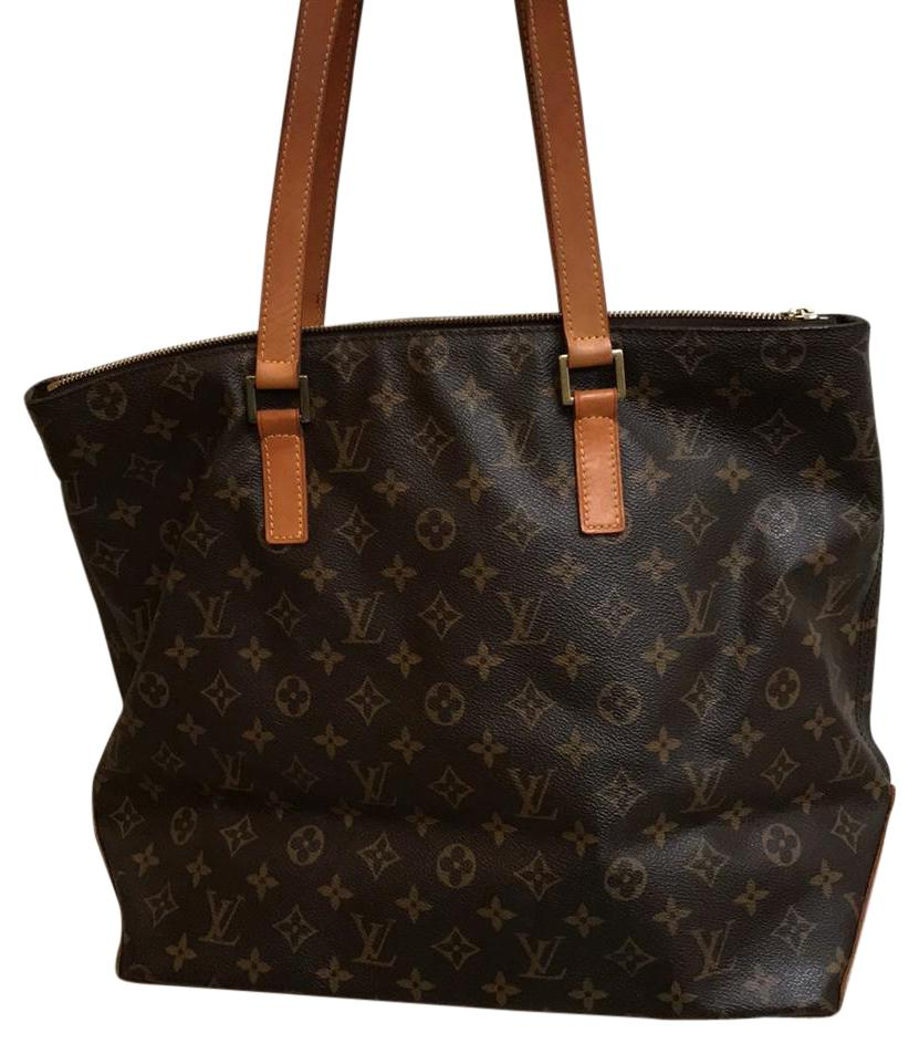 louis vuitton cabal pinas brown pattern tote bag on sale 70 off louis vuitton tote in brown louis vuitton pattern