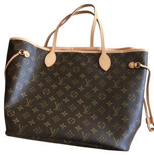 Louis Vuitton Tote in Brown/fuchia