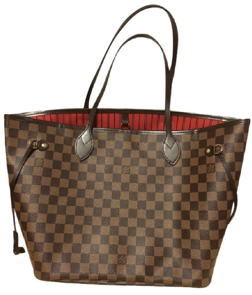 Big Lots Financing >> Louis Vuitton Red Lining Canvas / Leather Neverfull Tote - Tradesy