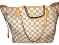 Louis Vuitton Tote in White And Blue