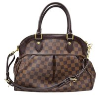Louis Vuitton Trevi Pm Damier Leather Satchel in Brown
