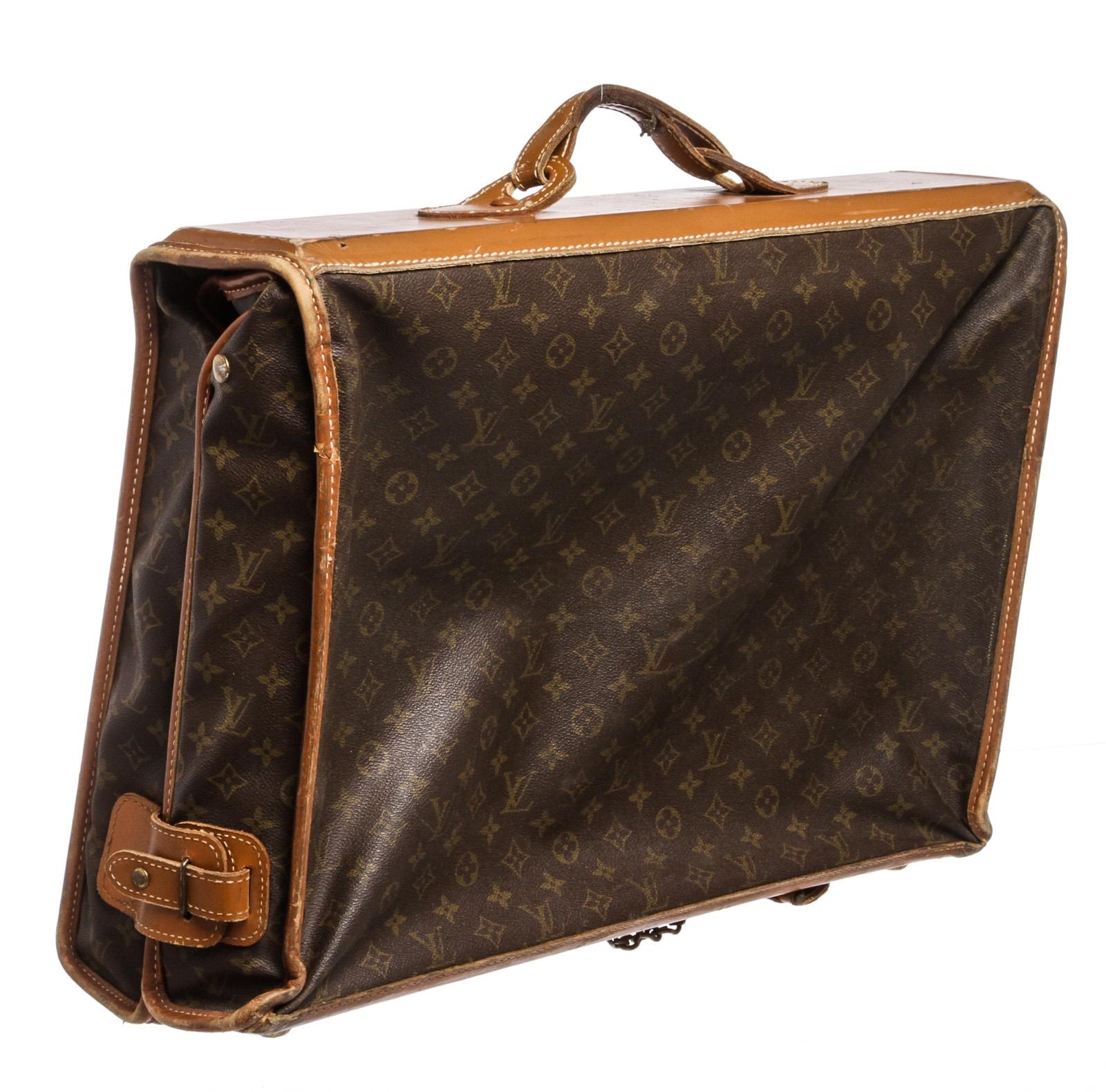 Louis Vuitton Vintage Weekend Travel Bag In Brown Monogram Canvas