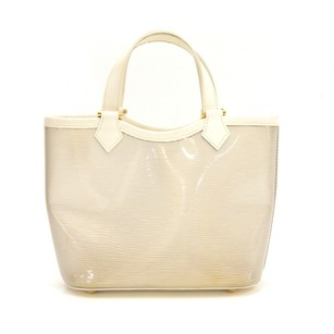 Louis Vuitton White Tote Handbag Shoulder Bag