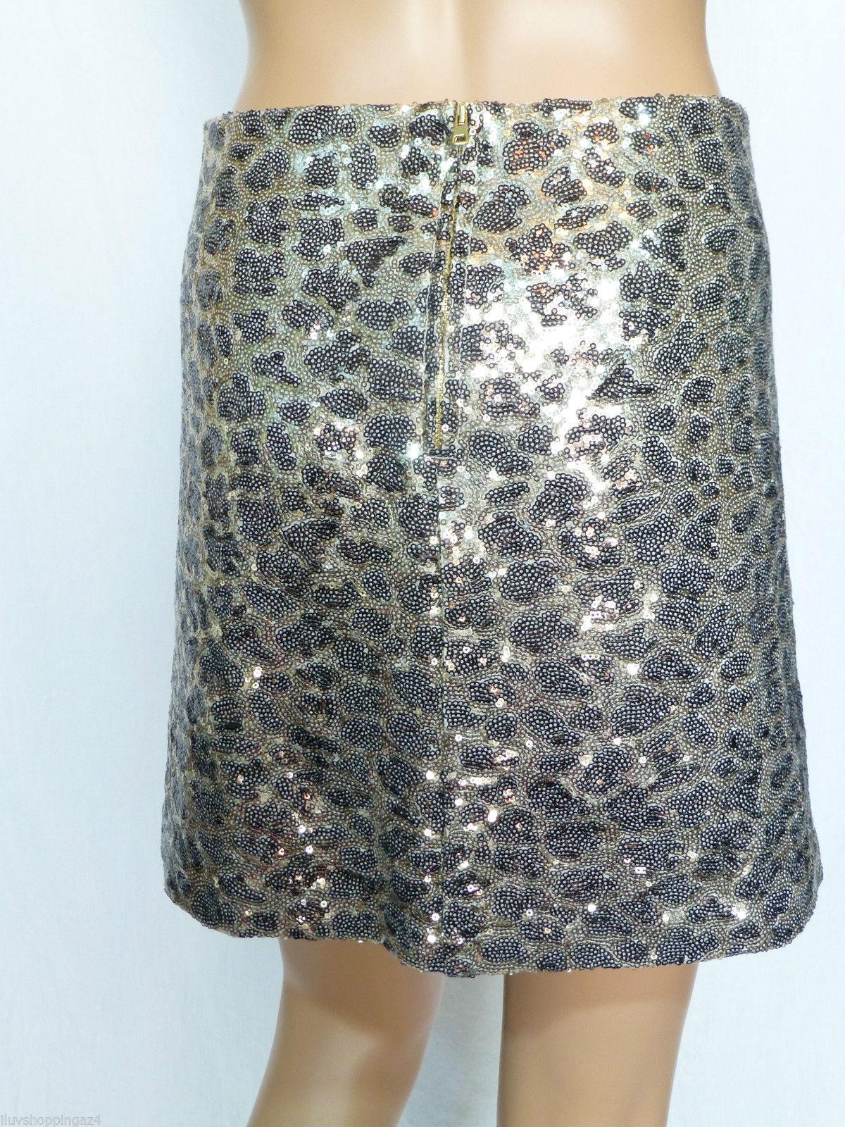 Love Moschino Leopard Print Sequin Mini Skirt - 48% Off Retail outlet
