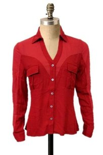 Love Riche Holly Red Mustard Top