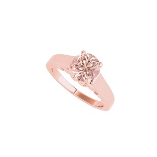 LoveBrightJewelry 1.00 Carat Morganite Solitaire Ring in 14K White Gold