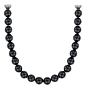 LoveBrightJewelry 10mm round black onyx 36 inch long necklace with 925 Sterling Silver clasp