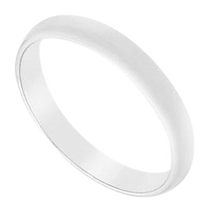 LoveBrightJewelry 14K White Gold 2.5MM Half Round Non comfort fit Wedding Band