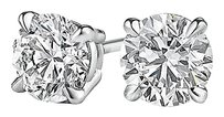 LoveBrightJewelry 14K White Gold Natural Diamond Stud Earrings For Her