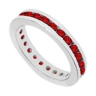 LoveBrightJewelry GF Bangkok Ruby Eternity Band 925 Sterling Silver 1.00 Carat Total Gem Weight