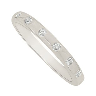 LoveBrightJewelry Unique Cubic Zirconia Wedding Band In 14k White Gold