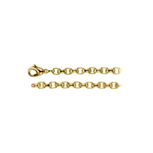 LoveBrightJewelry 6.75mm Cable Chain Necklace in 18K Yellow Gold Vermeil