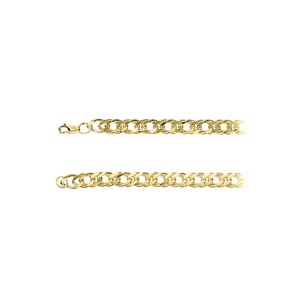 LoveBrightJewelry 8.20mm Curb Chain Necklace in 18K Yellow Gold Vermeil