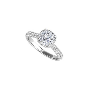 LoveBrightJewelry 925 Sterling Silver Brilliant Cut Cz Engagement Ring
