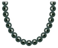 LoveBrightJewelry Akoya Cultured Pearl Necklace 14K White Gold 5 MM