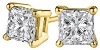 LoveBrightJewelry Amazingly Beautiful 4 Prong Set Natural Diamond Studs