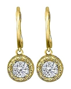 LoveBrightJewelry April Birthstone Diamond Leverback Earrings 0.50 CT TDW