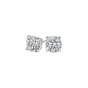 LoveBrightJewelry April Birthstone Natural Diamonds White Gold Earrings