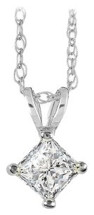 LoveBrightJewelry Avail 14K Gold Chain with Solitaire Diamond Pendant