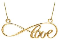 LoveBrightJewelry Beautiful Love Infinity Design Necklace in 18K Yellow Gold Vermeil Cost Effective Jewelry Gift