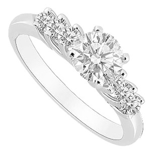LoveBrightJewelry Cubic Zirconia Engagement Ring 925 Sterling Silver 0.50 CT TGW