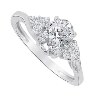 LoveBrightJewelry Cubic Zirconia Seven Stones Ring In 925 Sterling Silver