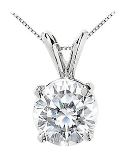 LoveBrightJewelry CZ Solitaire Pendant in 925 Sterling Silver 25 Carat