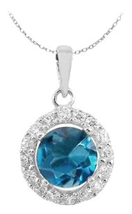 LoveBrightJewelry December Birthstone Blue Topaz and April Birthstone Cubic Zirconia