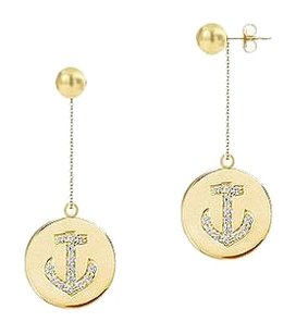 LoveBrightJewelry Diamond Disc Earrings 14K Yellow Gold 0.30 CT Diamonds