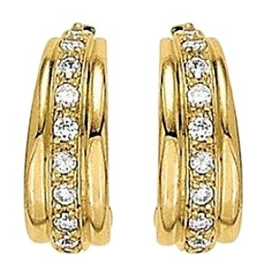 LoveBrightJewelry Diamond Hoop Earrings for Women in 14K Yellow Gold 0.66 CT TDW