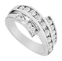 LoveBrightJewelry Diamond Ring 14K White Gold 0.50 CT Diamonds