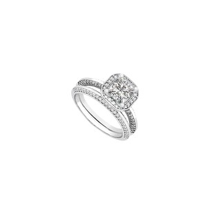 LoveBrightJewelry Diamond Wedding and Engagement Ring Set in 14kt White Gold 1.25.ct.tw