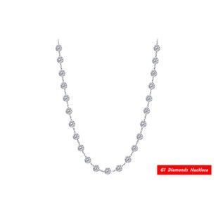 LoveBrightJewelry Diamonds By The Yard Necklace in 14kt White Gold 5 CT Total Diamonds