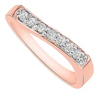 LoveBrightJewelry Elegant Cubic Zirconia Mother Ring in Rose Gold Vermeil