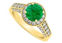LoveBrightJewelry Emerald Cubic Zirconia Ring In 18k Yellow Gold Vermeil Reasonable Price Range Coolest Design