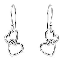 LoveBrightJewelry Fashion Love Heart Knot Earrings in 925 Sterling Silver 16.50X9.50 MM