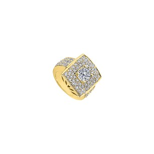 LoveBrightJewelry Fashion Pave CZ Ring in Yellow Gold 14K with 2.50 Carat Total Gem Weig