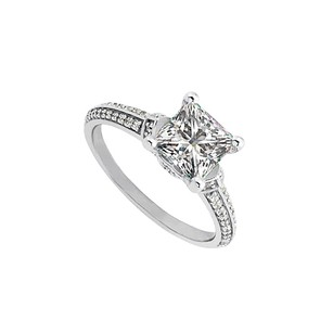 LoveBrightJewelry For You Princess Cut Square Cz Ring Crafted In Silver