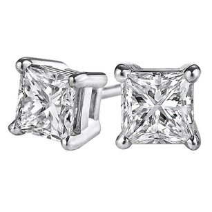 LoveBrightJewelry Half Carat Push Back Natural Diamond Stud Earrings
