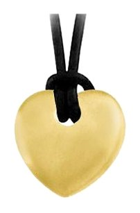 LoveBrightJewelry Heart Shape Pendant in Sterling Silver with 18K Yellow Gold Vermeil Finish