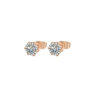 LoveBrightJewelry Hot Seller Rose Gold Vermeil Cubic Zirconia Earrings