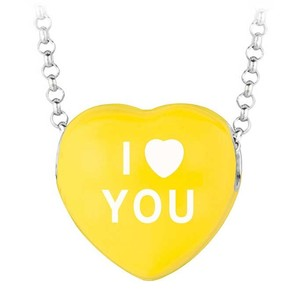LoveBrightJewelry I Love You Yellow Heart Pendant Necklace Sweethearts Collection