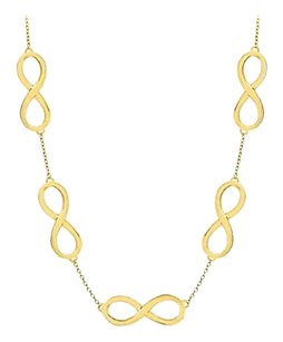 LoveBrightJewelry Infinity Necklace in 14K Yellow Gold 17 Inch Long