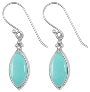 LoveBrightJewelry Just Perfect Blue Earrings Marquise Turquoise Silver