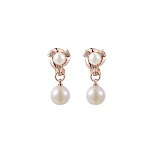 LoveBrightJewelry Latest Design Pearl Drop Earrings For Women Vermeil