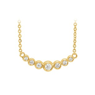 LoveBrightJewelry Look Gorgeous with CZ Graduated Bezel Set Necklace