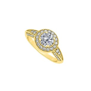 LoveBrightJewelry Nicely Designed Cubic Zirconia Ring In 18k Yellow Gold Vermeil Affordable Price Range Fab Design