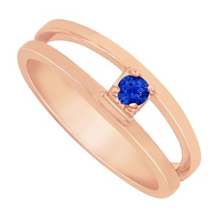 LoveBrightJewelry Nicely Designed Sapphire Mother Ring in 14K Rose Gold