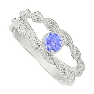 LoveBrightJewelry Nicely Designed Tanzanite Mother Ring In Sterling Silver Lovely Design With Perfect Price Range