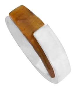 LoveBrightJewelry Noa Sterling Silver Ring with Tiger Eye
